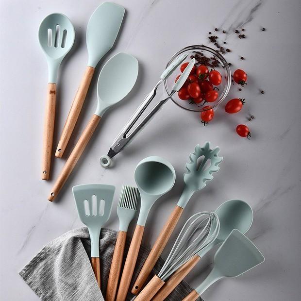 Ngọc Trinh có full combo dụng cụ làm bếp màu pastel xinh quá, bỏ vài trăm là mua được nè chị em ơi - Ảnh 10.
