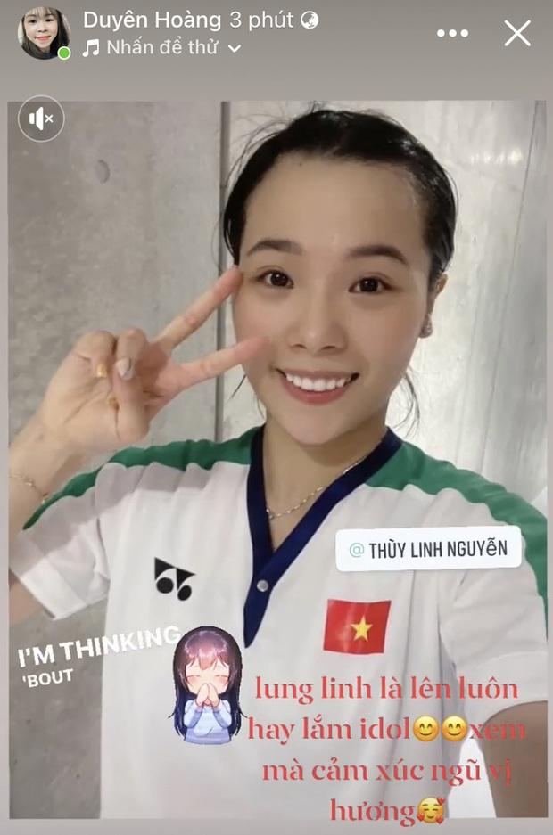 Nữ lực sĩ Hoàng Thị Duyên gọi tay vợt Thuỳ Linh là Idol, dành lời khen đặc biệt sau trận thắng tại Olympic Tokyo 2020 - Ảnh 1.