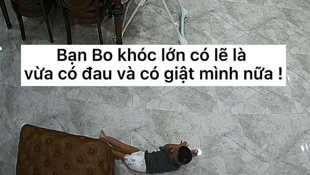 Thót tim clip CCTV con trai Hoà Minzy bất chợt ngã lăn từ trên cao xuống đất, bố Minh Hải xem xong thốt lên: Nguy hiểm quá! - Ảnh 4.