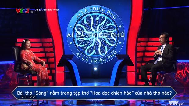 Ai Là Triệu Phú hỏi bài thơ Sóng của ai, đáp án dễ như cho nhưng thí sinh vẫn trả lời sai - Ảnh 2.