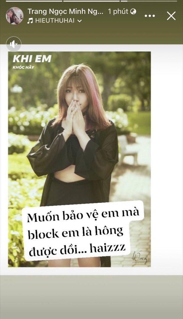 """Biến mới: Lương Minh Trang khẳng định bị Vinh Râu chặn Facebook, """"bóng gió"""" chồng cũ nói 1 đằng làm 1 nẻo? - Ảnh 4."""