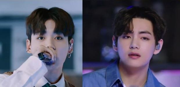 V và Jungkook (BTS) chiếm trọn spotlight trên sân khấu mới nhất: giọng hát cực phẩm, visual cũng cực mlem - Ảnh 1.