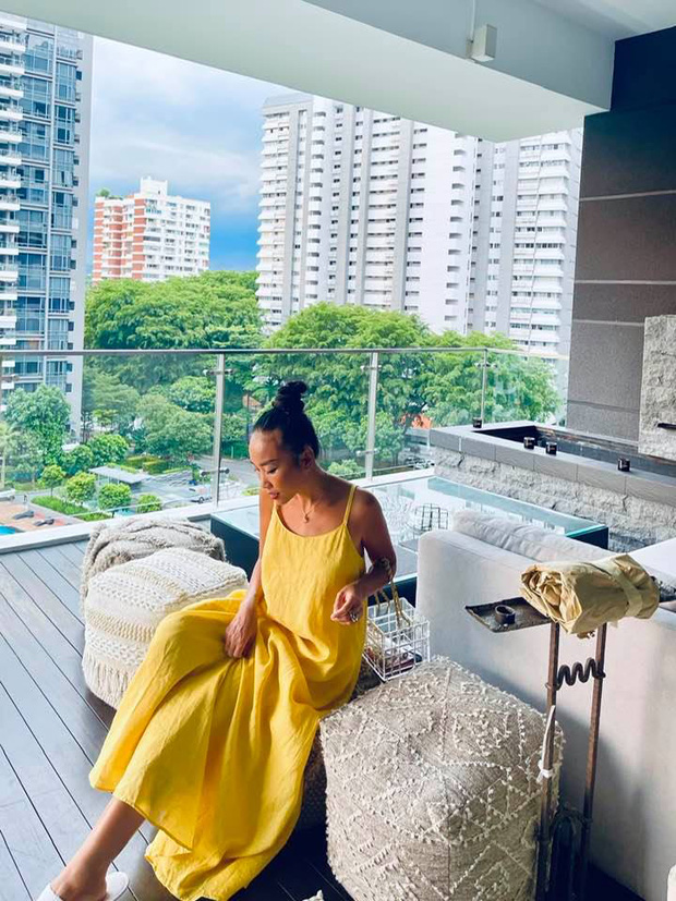Đoan Trang hội ngộ gia đình Hoàng Oanh, lần đầu hé lộ nhiều ngóc ngách trong căn penthouse xịn sò tại Singapore - Ảnh 5.