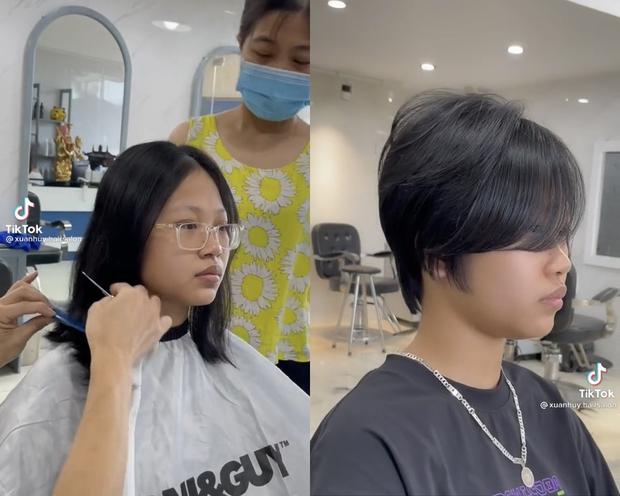 Nữ sinh cắt phăng mái tóc sau khi thi đỗ cấp 3, ai ngờ lột xác ngoạn mục, ảnh trước - sau không nhận ra luôn - Ảnh 2.