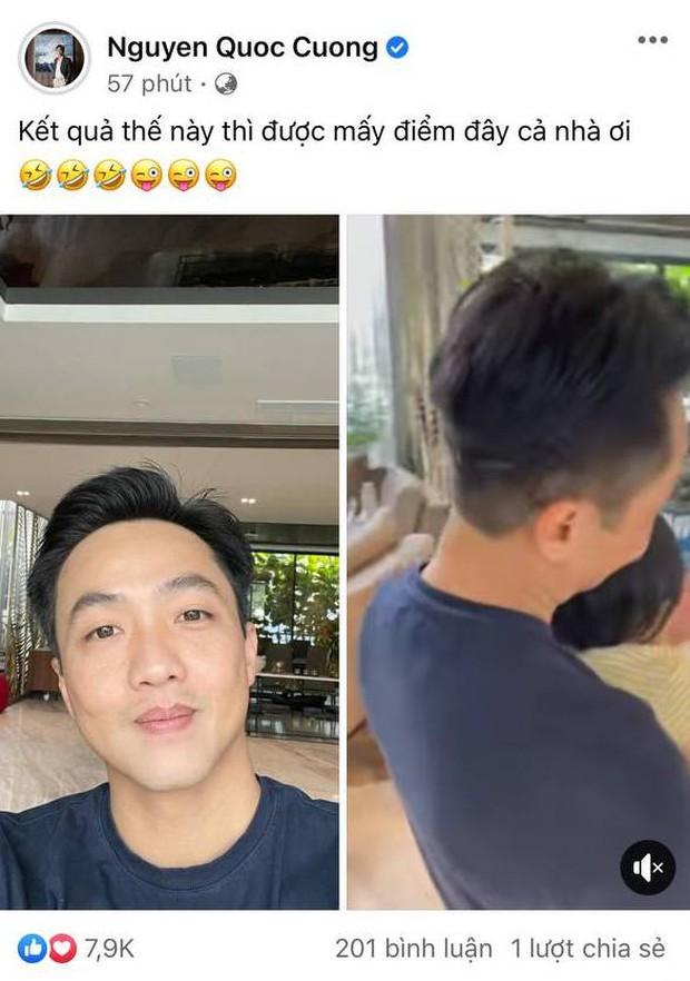 Đàm Thu Trang ra tay cắt tóc cho chồng mùa dịch, kết quả ra sao mà được ông xã và bạn bè đồng loạt chấm điểm 10? - Ảnh 4.
