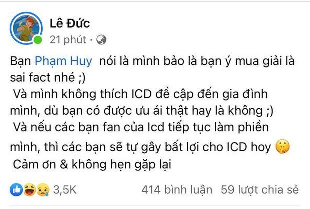 ICD nhắc tên RichChoi trong bản rap diss nhưng bị đáp trả: Cuộc chơi đừng lôi gia đình vào - Ảnh 3.