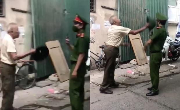 Hà Nội: Phạt 2 triệu đồng người đàn ông dùng mũ cối đập vào đầu chiến sĩ công an vì bị nhắc nhở đeo khẩu trang - Ảnh 1.