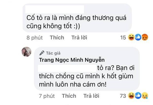 Bị khịa cố tỏ ra đáng thương sau ly hôn, Lương Minh Trang đáp trả: Bạn thích chồng cũ mình không hốt giùm! - Ảnh 3.