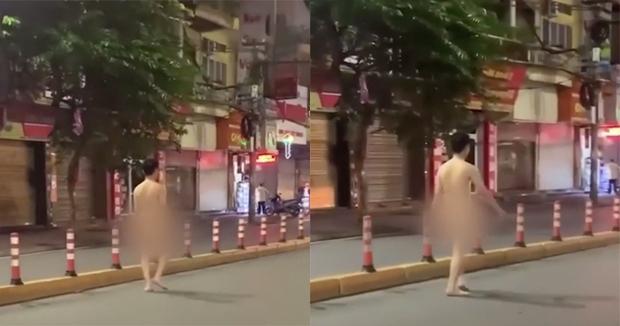 Xôn xao hình ảnh nam thanh niên khỏa thân thản nhiên đi bộ trên đường phố Hải Phòng - Ảnh 1.