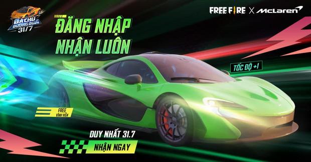 Game thủ Free Fire sẽ được nhận ngay quà độc quyền vĩnh viễn từ sự kiện mới với McLaren - Ảnh 1.