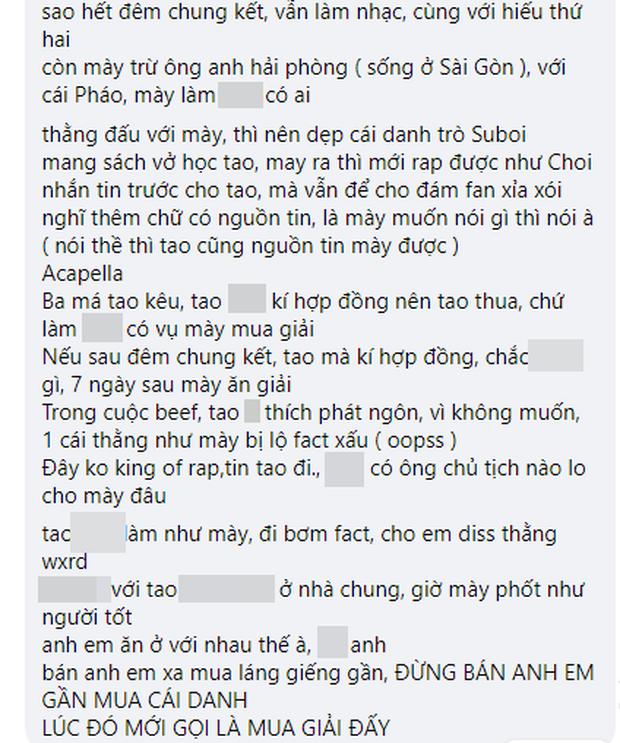 Biến căng: RichChoi diss thẳng mặt Quán quân King Of Rap, tố đi cửa sau để giành chiến thắng, chơi xấu anh em cùng chương trình! - Ảnh 9.