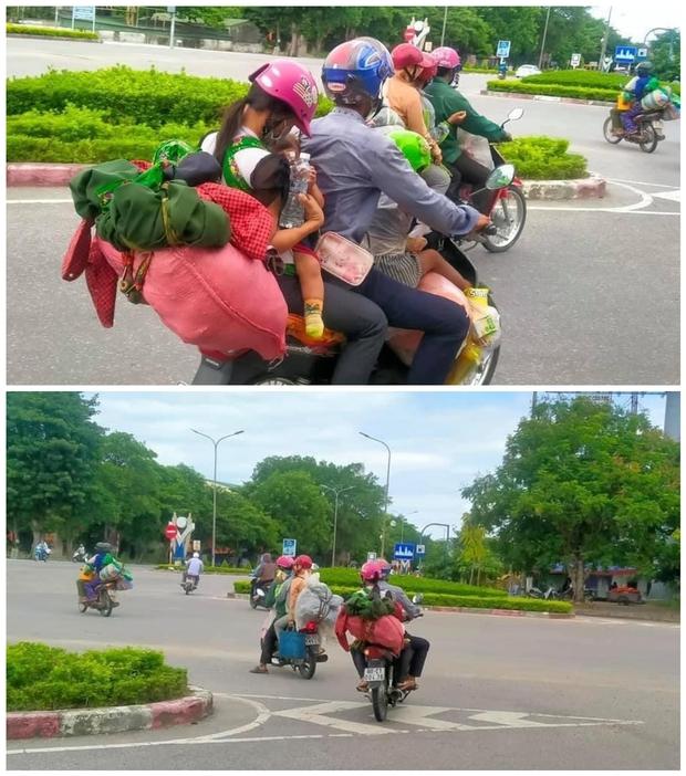 Xót xa cảnh người dân vạ vật chạy xe máy vượt hàng ngàn km về Nghệ An tránh dịch và những tấm phòng bì nghĩa tình khiến nhiều người ấm lòng - Ảnh 2.