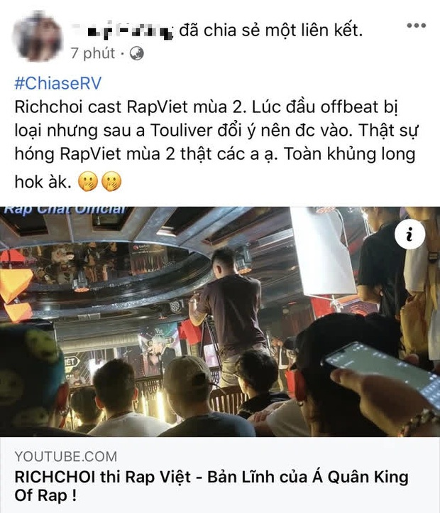 Trước khi chỉ trích King Of Rap cơ cấu rẻ tiền, RichChoi cũng từng bóc phốt Rap Việt khi bị loại ngay vòng gửi xe - Ảnh 3.