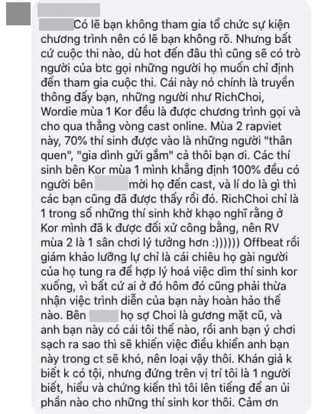 Trước khi chỉ trích King Of Rap cơ cấu rẻ tiền, RichChoi cũng từng bóc phốt Rap Việt khi bị loại ngay vòng gửi xe - Ảnh 10.