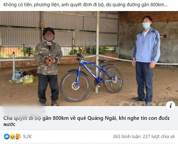 Người đàn ông bịa chuyện đi bộ 800km từ Bình Phước về quê Quảng Ngãi vì con đuối nước - Ảnh 1.