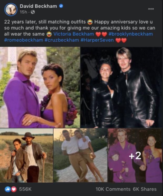 Bài đăng nửa triệu like gói gọn chuyện tình 22 năm của Victoria - David Beckham: 1001 phốt ngoại tình và cái nắm tay vượt mọi giông tố - Ảnh 2.