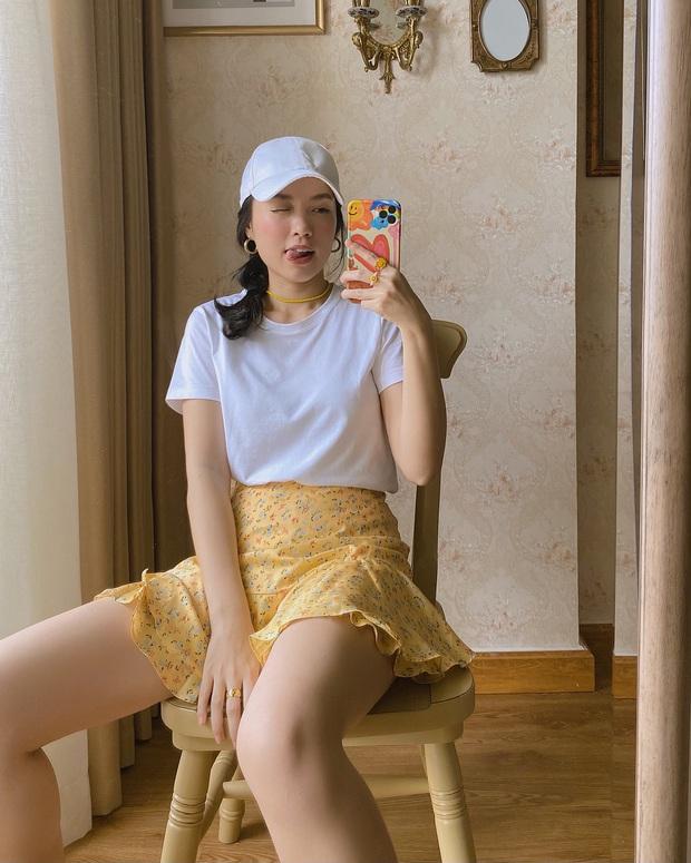 """Chỉ cần sắm áo thun trơn giá từ 149K để việc mặc """"chất"""" hàng ngày dễ như ăn kẹo, không tin thì bạn xem ngay loạt outfit của Hà Trúc và Mon Simi này! - Ảnh 7."""