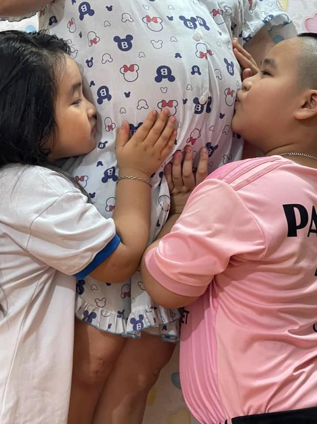 Hiếu Hiền sắp đón nhóc tỳ thứ 3 chào đời, tiết lộ lời hứa đặc biệt của 2 con đầu dành cho em bé - Ảnh 3.