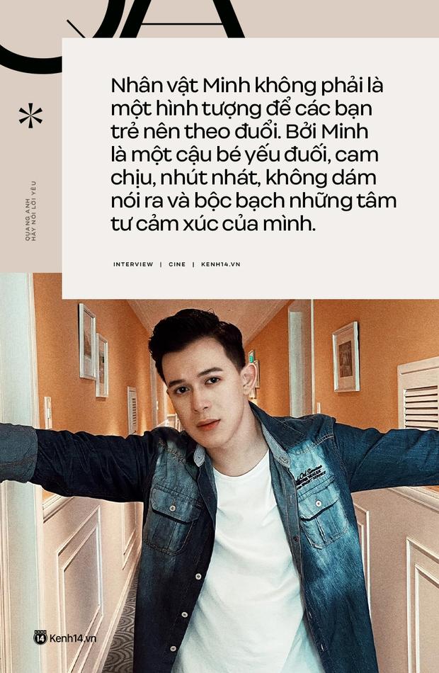 Quang Anh (Hãy Nói Lời Yêu): Cái chết của Minh là luật nhân quả, tôi không hề muốn thay đổi nó - Ảnh 3.
