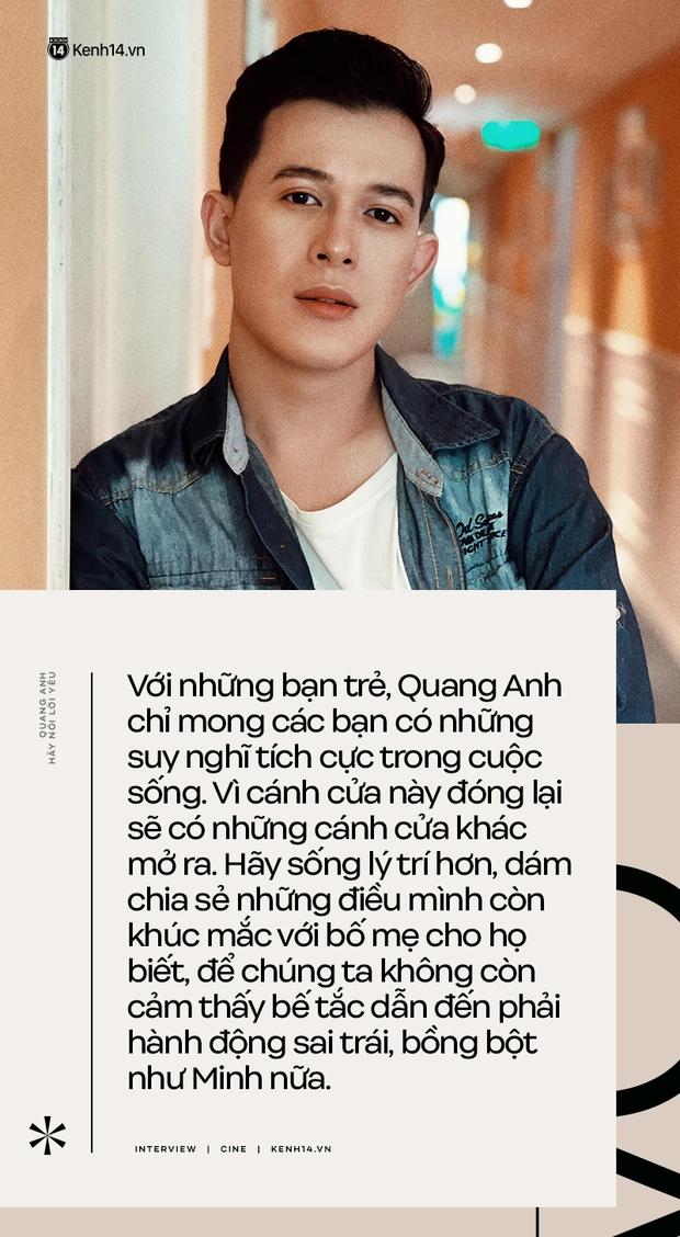 Quang Anh (Hãy Nói Lời Yêu): Cái chết của Minh là luật nhân quả, tôi không hề muốn thay đổi nó - Ảnh 5.