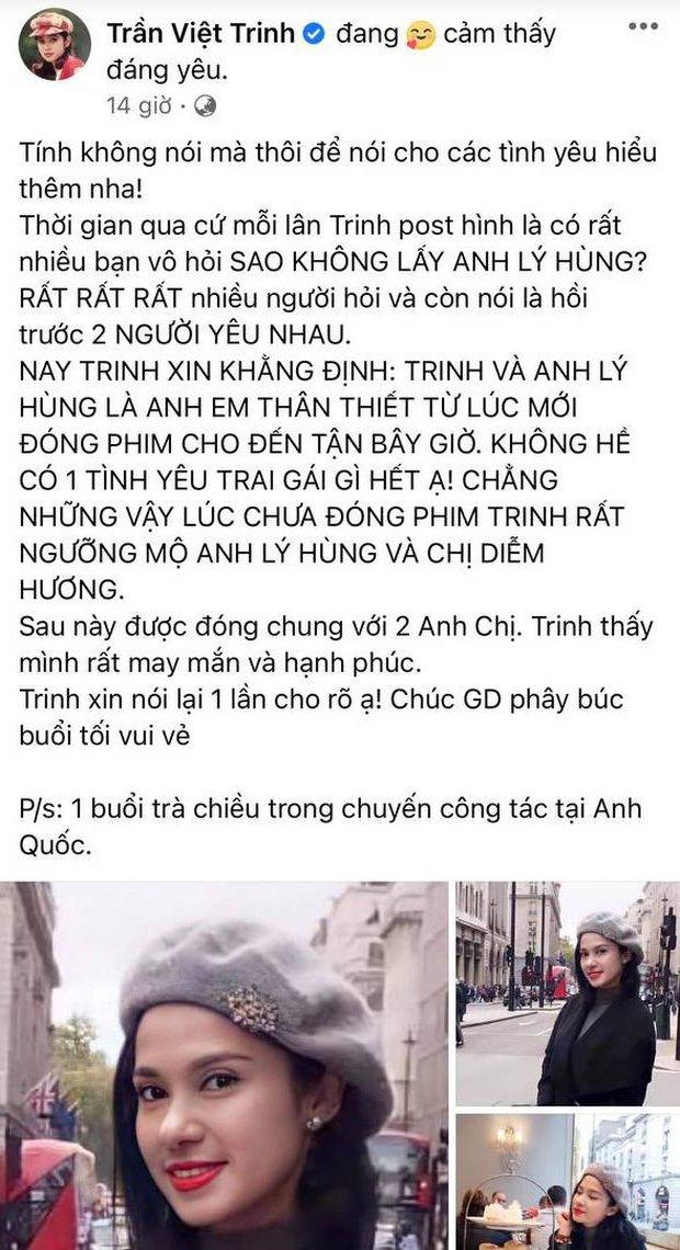 Việt Trinh cuối cùng đã tiết lộ lý do không yêu NS Lý Hùng - Ảnh 2.