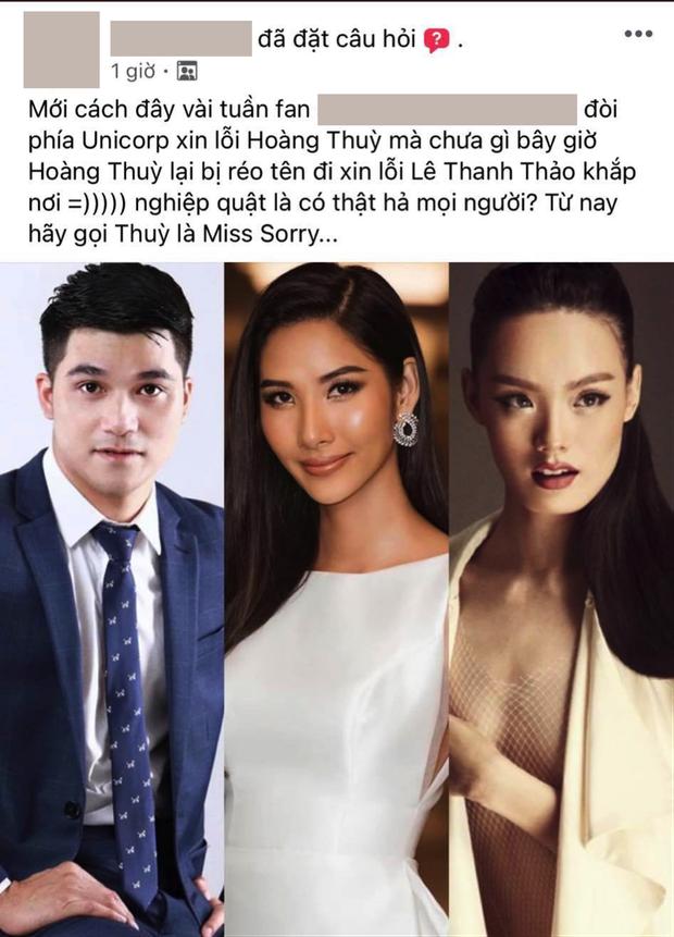 Netizen nhắn nhủ Hoàng Thùy: Trước đây fan chị bắt ê-kíp Miss Universe xin lỗi, giờ đến chị xin lỗi Lê Thanh Thảo đi chứ - Ảnh 5.