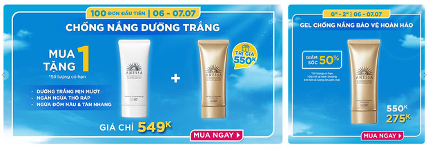 Mỹ phẩm chính hãng sale 7/7: MAC tung deal mua 2 son giảm 50%, kem chống nắng Anessa mua 1 tặng 1, nhiều hãng tặng quà xịn - Ảnh 13.