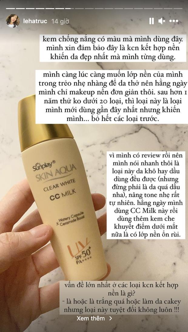 Kem chống nắng hơn 100k được Hà Trúc khen đáo để, nâng tông nhẹ nhàng khỏi cần makeup vẫn xinh - Ảnh 2.