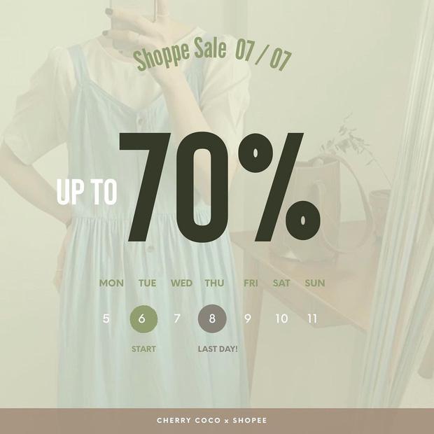 """Nhiều shop sale 7/7 rần rần rồi các chị em: Giảm đến 70% mà toàn đồ đẹp, """"vợt"""" ngay bây giờ là tiết kiệm lắm - Ảnh 1."""
