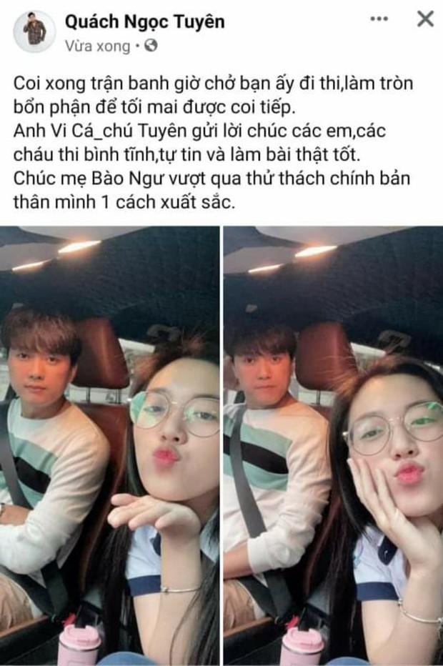 """Quách Ngọc Tuyên đưa vợ trẻ kém 16 tuổi đi thi tốt nghiệp THPT, lời chúc tới """"các em, các cháu"""" sĩ tử gây chú ý! - Ảnh 2."""