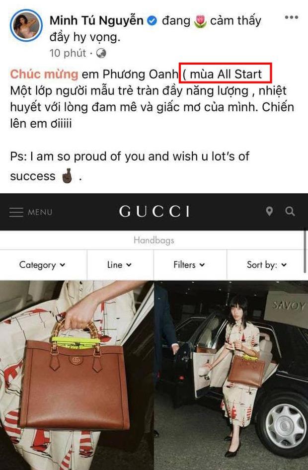 Minh Tú chúc mừng Phương Oanh Next Top nhưng nhanh chóng xin lỗi vì... sai tiếng Anh! - Ảnh 2.