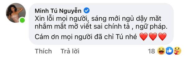 Minh Tú chúc mừng Phương Oanh Next Top nhưng nhanh chóng xin lỗi vì... sai tiếng Anh! - Ảnh 3.