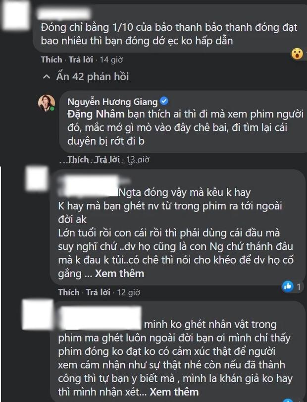 Bị antifan chê đóng phim không bằng 1/10 Bảo Thanh, Hương Giang bức xúc đáp trả cực gắt - Ảnh 3.