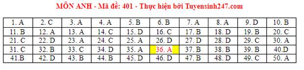 Đáp án đề thi môn Tiếng Anh tốt nghiệp THPT 2021 tất cả các mã đề - Ảnh 1.