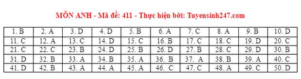 Đáp án đề thi môn Tiếng Anh tốt nghiệp THPT 2021 tất cả các mã đề - Ảnh 11.