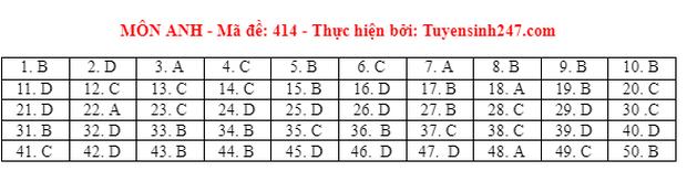 Đáp án đề thi môn Tiếng Anh tốt nghiệp THPT 2021 tất cả các mã đề - Ảnh 14.