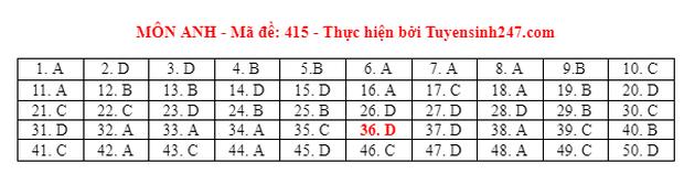 Đáp án đề thi môn Tiếng Anh tốt nghiệp THPT 2021 tất cả các mã đề - Ảnh 15.
