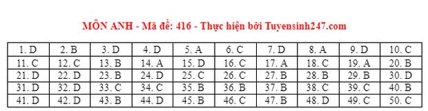 Đáp án đề thi môn Tiếng Anh tốt nghiệp THPT 2021 tất cả các mã đề - Ảnh 16.