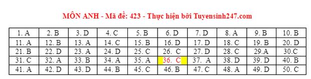 Đáp án đề thi môn Tiếng Anh tốt nghiệp THPT 2021 tất cả các mã đề - Ảnh 23.