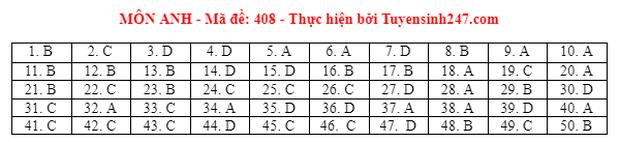 Đáp án đề thi môn Tiếng Anh tốt nghiệp THPT 2021 tất cả các mã đề - Ảnh 8.