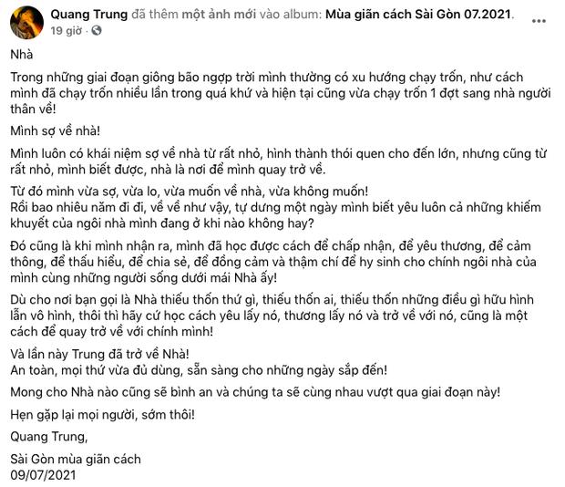 Dàn sao gửi tâm thư cho Sài Gòn ngày đầu giãn cách: Vũ Khắc Tiệp, Quang Hà nhớ ký ức năm xưa, Đỗ Thị Hà - Ngô Thanh Vân cổ vũ tinh thần từ xa - Ảnh 4.