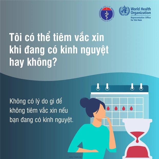 Đang trong kỳ kinh nguyệt, mang thai và cho con bú, có nên tiêm vắc xin phòng Covid-19? - Ảnh 2.