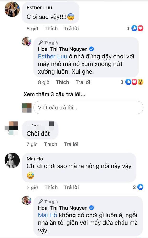 Hoa hậu Thu Hoài gặp chấn thương nghiêm trọng ở Mỹ, Hari Won - Mai Hồ cùng dàn sao Việt đồng loạt lo lắng hỏi thăm - Ảnh 3.