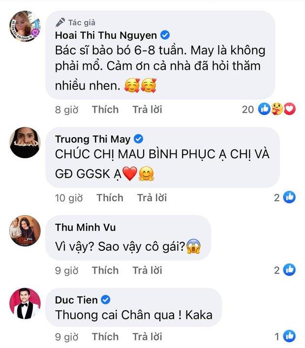 Hoa hậu Thu Hoài gặp chấn thương nghiêm trọng ở Mỹ, Hari Won - Mai Hồ cùng dàn sao Việt đồng loạt lo lắng hỏi thăm - Ảnh 4.