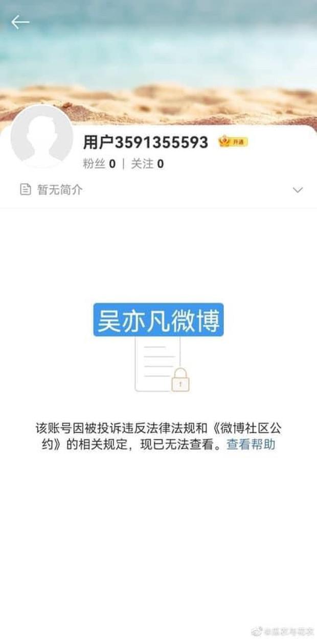 Nóng: Toàn bộ tài khoản Weibo, Douyin của Ngô Diệc Phàm và studio đã chính thức bay màu - Ảnh 2.