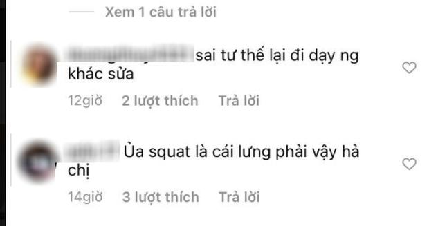 Ngọc Trinh đăng clip hướng dẫn tập thể dục, ai dè bị netizen chỉ ra lỗi sai cơ bản, có nguy cơ tổn thương lưng nghiêm trọng - Ảnh 4.