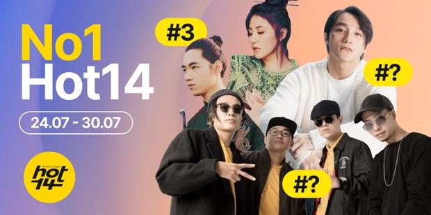 Da LAB chạm mặt nhân tố mới đe dọa vị trí đầu bảng, Sơn Tùng M-TP và Jack lại biến mất khỏi top 3 HOT14 Weekly - Ảnh 1.