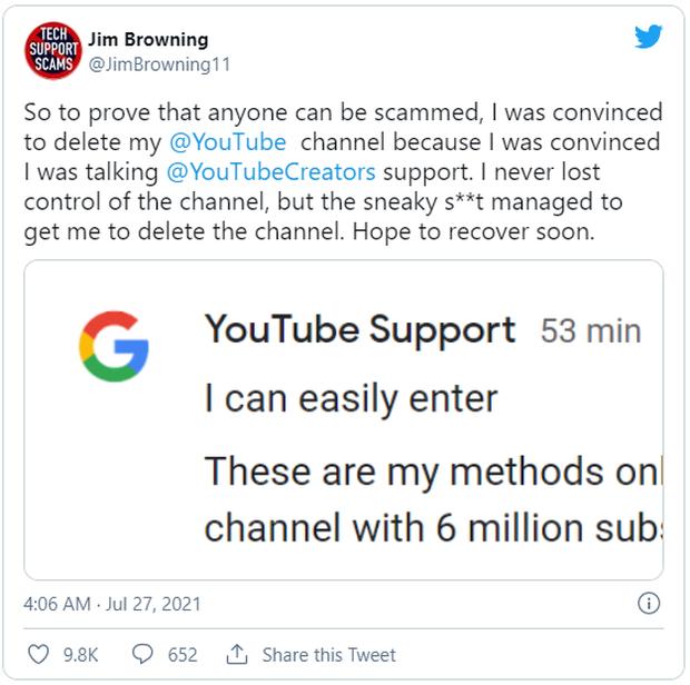 YouTuber chuyên vạch mặt bọn lừa đảo cuối cùng lại bị lừa, đến nỗi tự tay xóa kênh YouTube của chính mình - Ảnh 1.