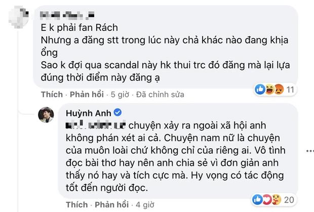 Huỳnh Anh ẩn ý nói về đàn ông trăng hoa, làm tội con thơ, phản ứng khi netizen khuyên đừng cà khịa Jack! - Ảnh 3.