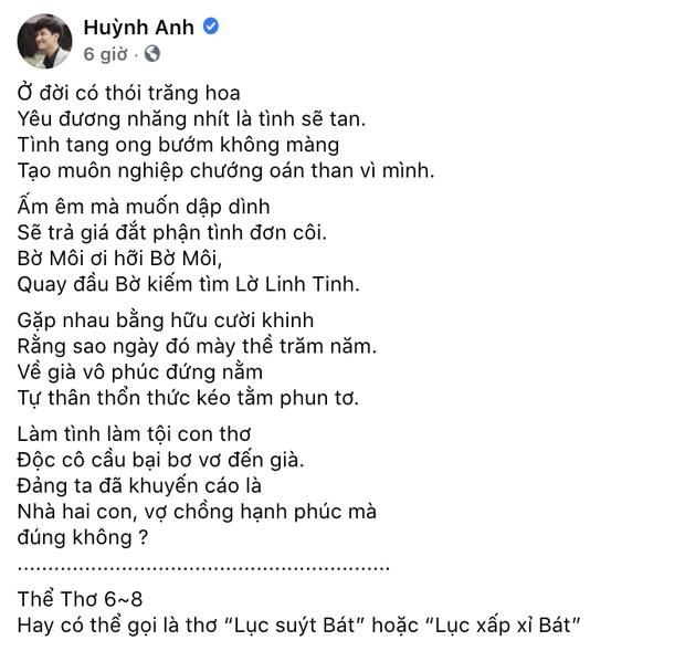 Huỳnh Anh ẩn ý nói về đàn ông trăng hoa, làm tội con thơ, phản ứng khi netizen khuyên đừng cà khịa Jack! - Ảnh 2.